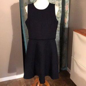 NWOT Karl Lagerfield Navy Knit Sheath Dress